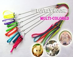 Adjustable Ferret Harness/Baby Rabbit/Hamster Rat Mouse Leash Lead with bell