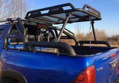 Limitless Accessories ® Off-Road : Limitless® ROCKY roof rack for rollbar Truck Roof Rack, Truck Tent, Jeep Truck, Truck Camping, Toyota Trucks, Custom Trucks, Pickup Trucks, Toyota Hilux, Toyota Tundra