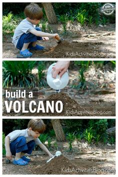How to build a volcano. Such a fun science activity for kids.