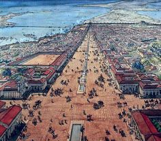Ancient Alexandria ~ Tourism and travel for recreation Ancient Aliens, Ancient Rome, Ancient Greece, Ancient History, Architecture Antique, Library Of Alexandria, Rome Antique, Fantasy City, Roman History