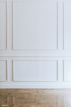 White wall with a brown marble floor Floor Furniture Modern Wall Paneling, White Wall Paneling, Wall Trim, White Walls, Trim On Walls, Paneling Walls, Wall Panelling, Panel Moulding, Wall Molding