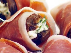 Dates stuffed with mascarpone, wrapped with prosciutto, then baked.  Yes, please.
