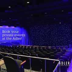 Looking for a space to host your next private event or corporate meeting? Our newly renovated Samuel C. Johnson Family Star Theater is the perfect setting for a lecture or presentation, seating as many as 239 attendees.    With breathtaking skyline views, the Adler is an iconic Chicago venue providing a dazzling and memorable location for your private event. Learn more about our private events options: http://www.adlerplanetarium.org/private-events/