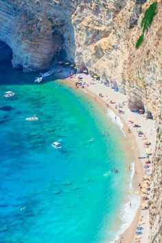 Cliff Beach, Corfu, Greece