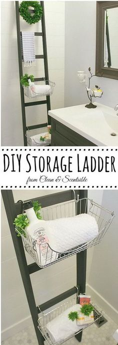 Easy DIY Storage Ladder