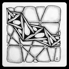 Zentangle Zoo: Square One Pattern Drawing, Pattern Art, Zentangle Patterns, Zentangles, Crafty Fox, Zen Doodle, Tile Art, Mandala Art, Art Forms