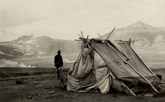 A tent stands in the wind at Baked Mountain camp.