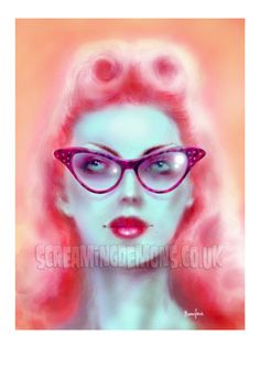 Spectacle Pinup Art Print by Marcus Jones 115 by TheGothabillyShop, $10.00