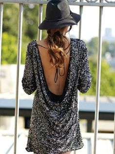 ...sparkly, backless tunic ♥