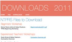 Downloads from NTPRS 2011