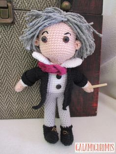 Muñeco Beethoven Amigurumi - Patrón Gratis en Español aquí: http://www.galamigurumis.com/hilo-del-genio-beethoven-amigurumi-patron/