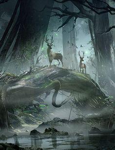 Journey through the Swamp Lands by Eduardo Pena