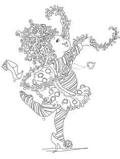 Fancy Nancy Coloring page