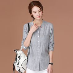 Camisas Femininas 2017 Spring And Summer Casual Blouses Korean O-Neck Shirt Womens Tops Long Sleeve Women Clothes Vetement Femme