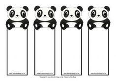 free printable panda bookmarks download the pdf template. Black Bedroom Furniture Sets. Home Design Ideas