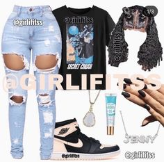 Baddie Outfits Casual, Cute Swag Outfits, Dope Outfits, Swag Outfits For Girls, Summer Outfits, Boujee Outfits, Lazy Day Outfits, Chill Outfits, Trendy Outfits