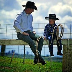 Father and son cowboys #photo