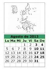 Calendario 2013 agosto para imprimir - Nocturnar