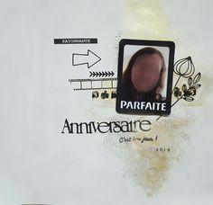 Page Scrap Or Noir Bistre Flèche Masking tape