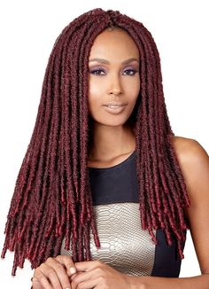 65 Best Pre Twisted Crochet Hair Looks to Copy - Bleed For Fashion different crochet hair - Crochet Techniques Dreads, Crochet Dreadlocks, Crochet Hair, Box Braids Hairstyles, Hairstyles Videos, Hair Updo, Faux Locs Styles, Extensions, Curly Hair Styles