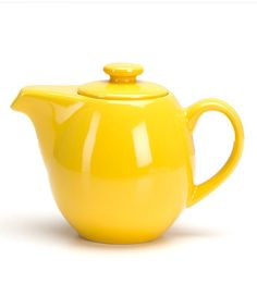 Yellow Infuser Teapot
