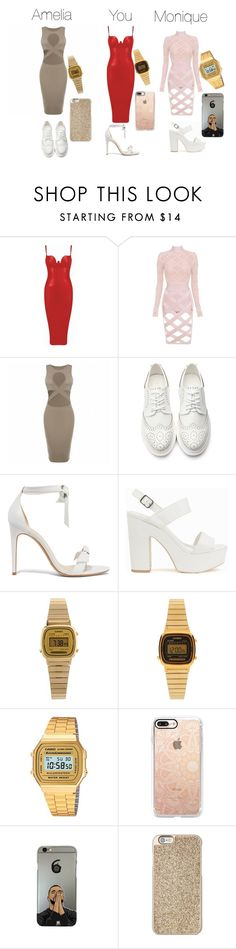 """""""FOR QUOTEV STORY"""" by momoso379 on Polyvore featuring Alexandre Birman, Nly Shoes, Casio, Casetify and Michael Kors"""