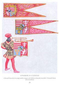 középori magyar lobogók ancient hungarian flags