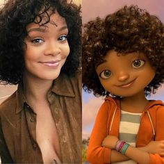 RiRi looking just like Tip. #HOME  My Baby gurl loves this movie and they dang near look a like!