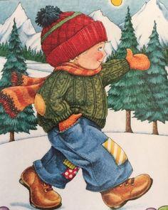 Walking In A Winter Wonderland-Handmade Magnet-Mary Engelbreit Artwork