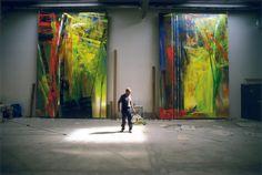 Timm Rautert Gerhard Richter, Düsseldorf 1986, Farbfotografie, 47 x 71 cm, at show at Parrotta in Stuttgart.