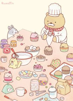 Kawaii (cute) kumaffin~
