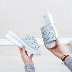 Papuci dama Piele albastru deschis Planeria-rl Slip On, Sneakers, Casual, Shoes, Fashion, Trainers, Moda, Shoes Outlet, Fashion Styles