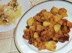 Brassói aprópecsenye recept Croatian Recipes, Hungarian Recipes, Hungarian Food, Firecracker Shrimp, Main Dishes, Side Dishes, Pork Dishes, Frankfurt, My Recipes