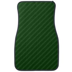 #stripes - #Green with Double Pin Stripes Front Car Mat