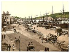 The Quays Waterford. County Waterford Ireland by vintagephotograph Waterford City, Waterford Ireland, Waterford Crystal, Norway Travel, Ireland Travel, Old Photos, Vintage Photos, Vintage Photographs, Ireland Pictures