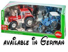 B077VPGYSG : SIKU 8516 1:32 Sondermodellset mit 2 Traktoren: Lanz Bulldog und Schlüter Super 1250 VL. SIKU 8516 1:32 Sondermodellset mit 2 Traktoren: Lanz Bulldog und Schlüter Super 1250 VL