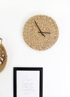 Diy rattan clock