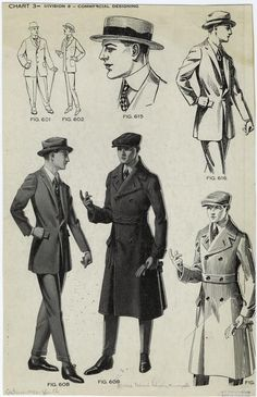 [Young men's suits, hats, and coat, ca. 1922.] - ID: 817204 - NYPL Digital Gallery