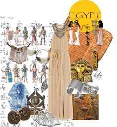"""""""Ancient Egypt & Fashion"""" by kateo ❤ liked on Polyvore"""