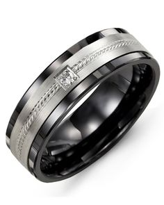 Titanium Grooved Beaded 6mm Wedding Ring Band Size 7.00 Fashion Jewelry Gifts Superior Materials Bridal & Wedding Party Jewelry Jewelry & Watches