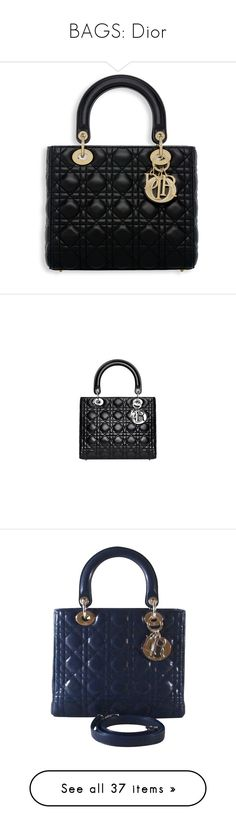 """""""BAGS: Dior"""" by hannah-the-bibliophile ❤ liked on Polyvore featuring bags, handbags, tote bags, borse, bolsas, black, leather hand bags, leather tote handbags, vintage leather tote and quilted tote bags"""