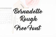 DLOLLEYS HELP: Bernadette Rough Free Font
