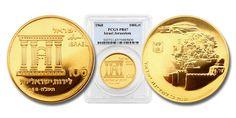 Israel 1968 Jerusalem Reunification (Temple) 100 Lirot Gold