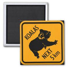 Koala Bear Australia Sign Refrigerator Magnet