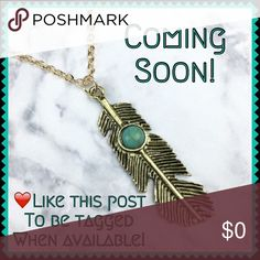 """Boho Chic Feather Stone Necklace FINAL LOWEST MARKDOWN!Tap into your gypsy soul with this beautiful Boho Chic style necklace! Metal alloy with acrylic rounded turquoise stone. About 18"""" around + 1.5"""" extender. Please note the chain is more shiny gold & pendant is burnished gold. NWT Retail-Price firm unless bundled with another listing(s). ☮✌️ Wila Jewelry Necklaces"""