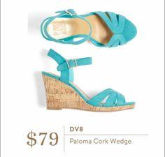 Stitch Fix August 2016 - DV8, Paloma Cork Wedge shoes sandals