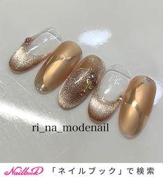 Korean Nail Art, Korean Nails, G Nails, Cat Eye Nails, Fancy Nails, Love Nails, Nail Color Combos, Nail Colors, Japan Nail