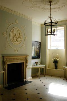 Portland Stone Floor in Hall Robert Adam Townhouse | Hackett Holland Ltd