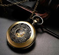 Men Vintage Pocket Watch Antique Watch Mechanical Hand by CabanyCo