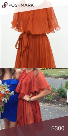 HOST PICK 🎉💕 3.1 Phillip Lim Dress One of my favorites! Too special to wear again! Burnt orange, accordion/ pleated dress with layers. Absolutely GORGEOUS! 3.1 Phillip Lim Dresses
